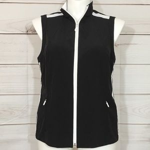 Black & White Weekends by Chico's Athleisure Vest